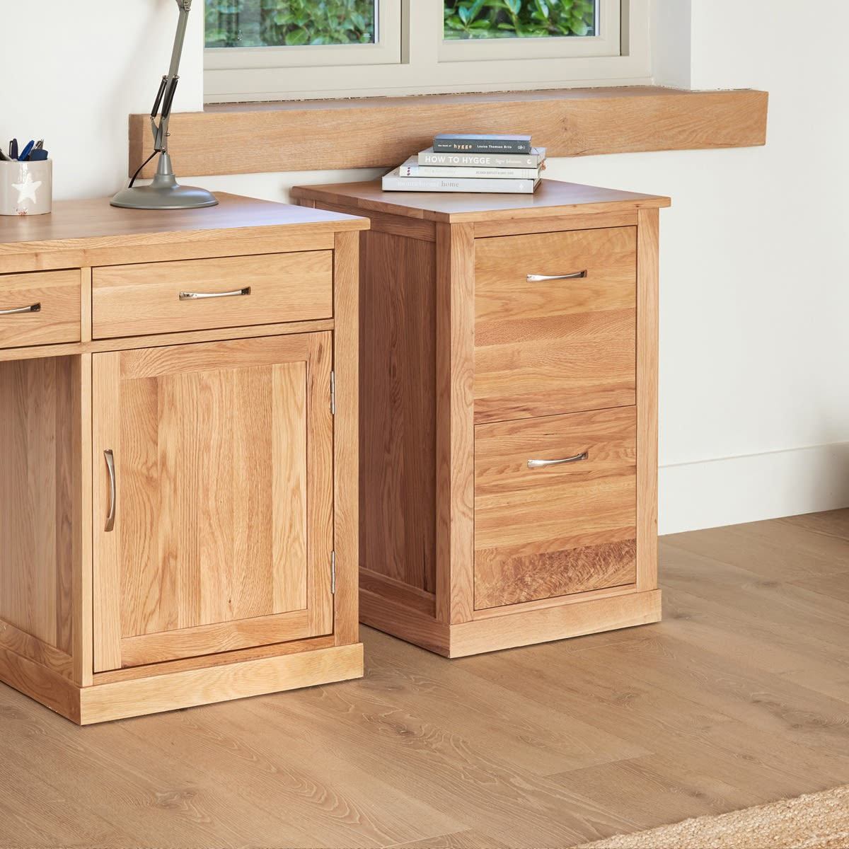 Home Office Furniture At Wooden Furniture Store: Mobel Oak Two Drawer Filing Cabinet Was £360.00 Now £296
