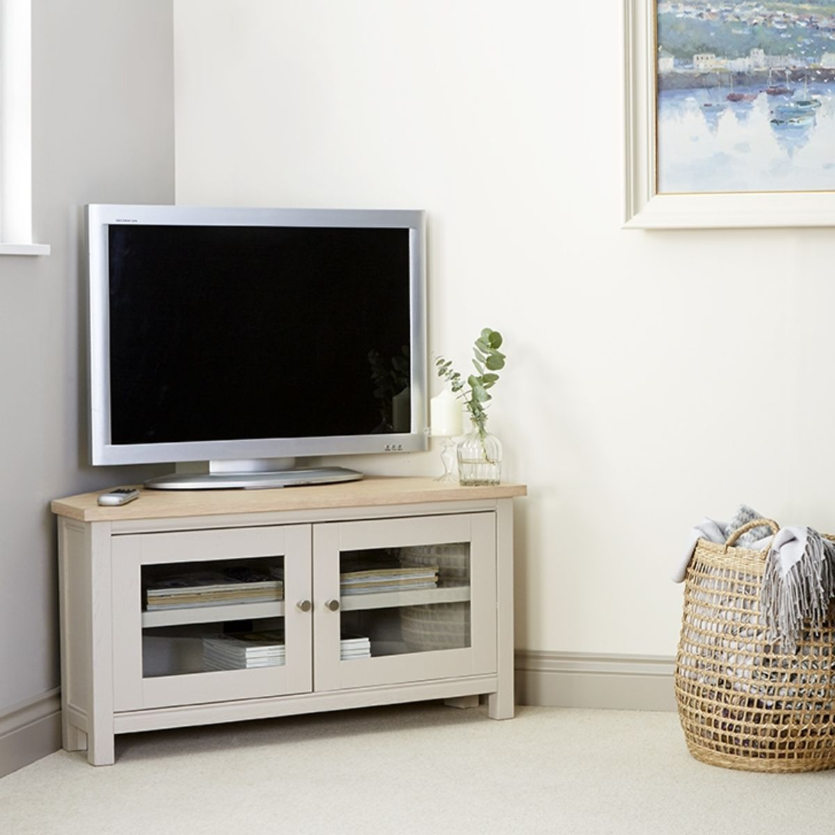 Rushbury Painted Corner TV Unit Was £449.00 Now £404.10