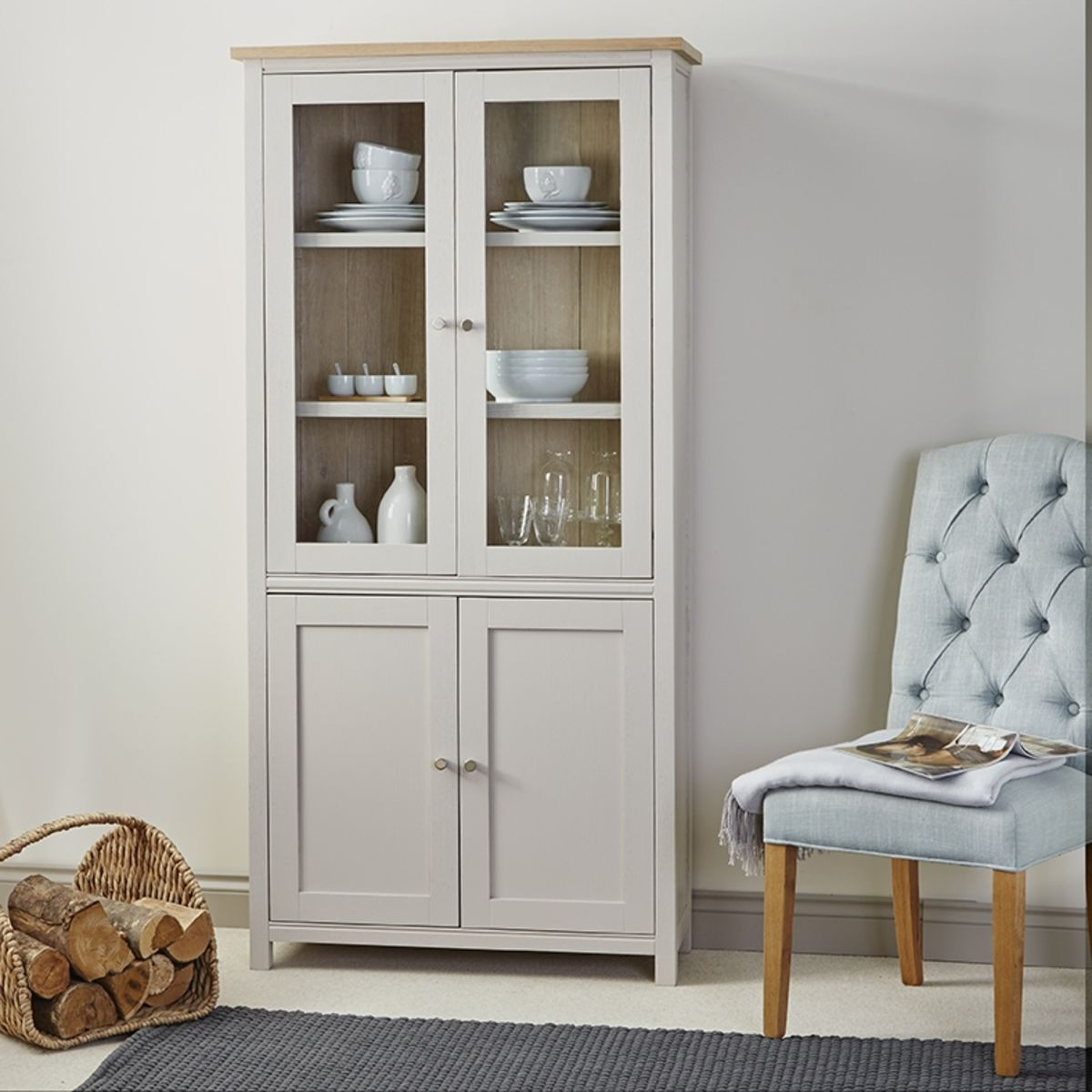 Rushbury Painted Display Cabinet Was £999.00 Now £899.00