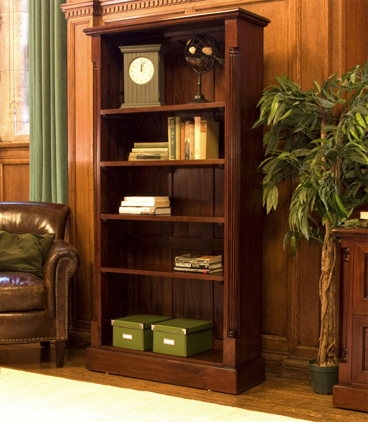 La Roque Tall Open Mahogany Bookcase Was 163 720 00 Now 163 593 10 Wooden Furniture Store