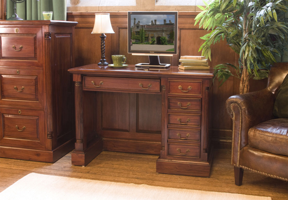 La Roque Single Pedestal Mahogany Computer Desk Was 163 770