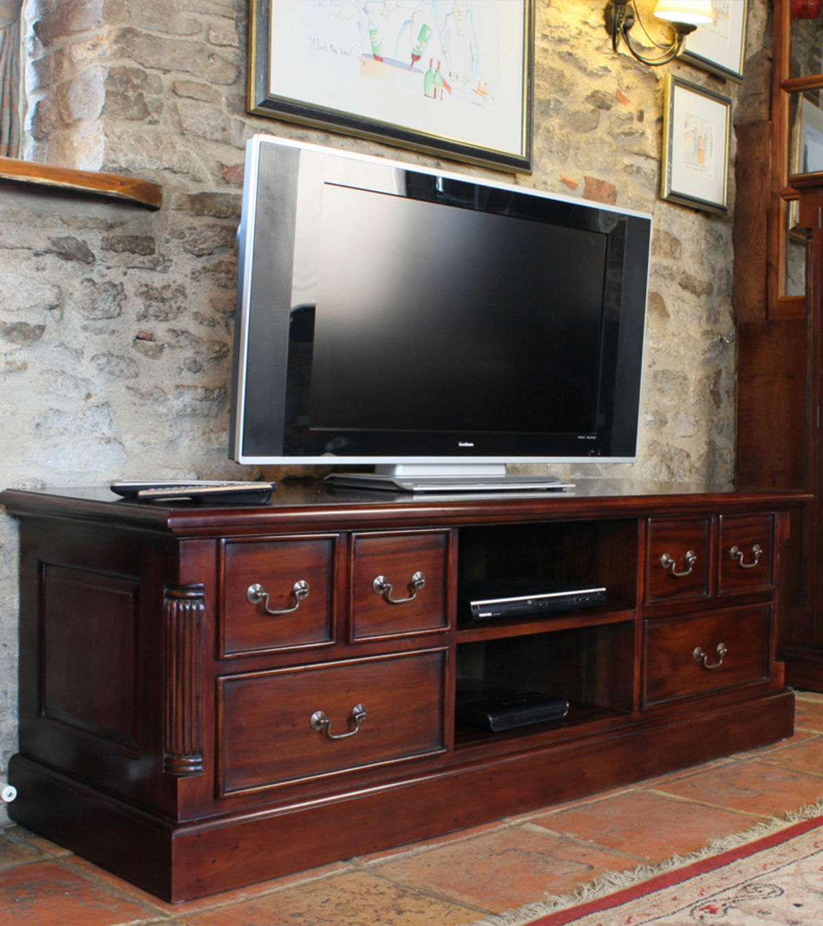 Mahogany Widescreen Television Cabinet Was 163 780 00 Now 163 699 00 Wooden Furniture Store