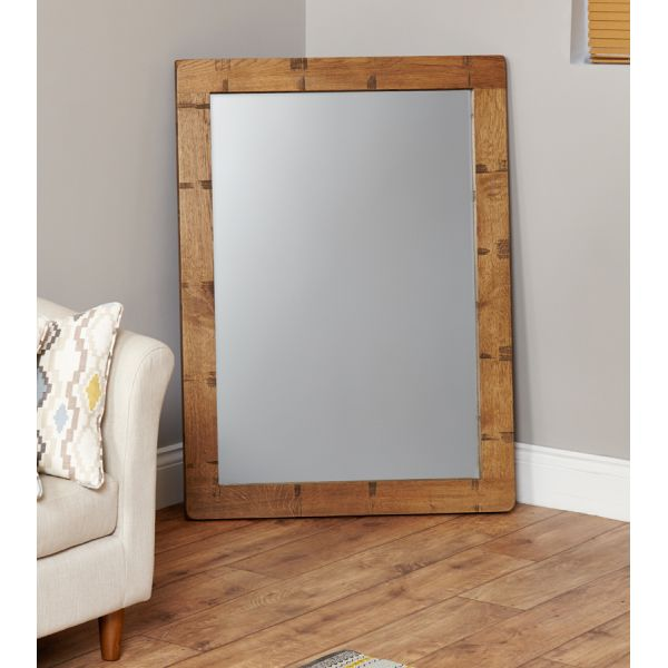 Heyford Rough Sawn Oak Chunky Wall Mirror