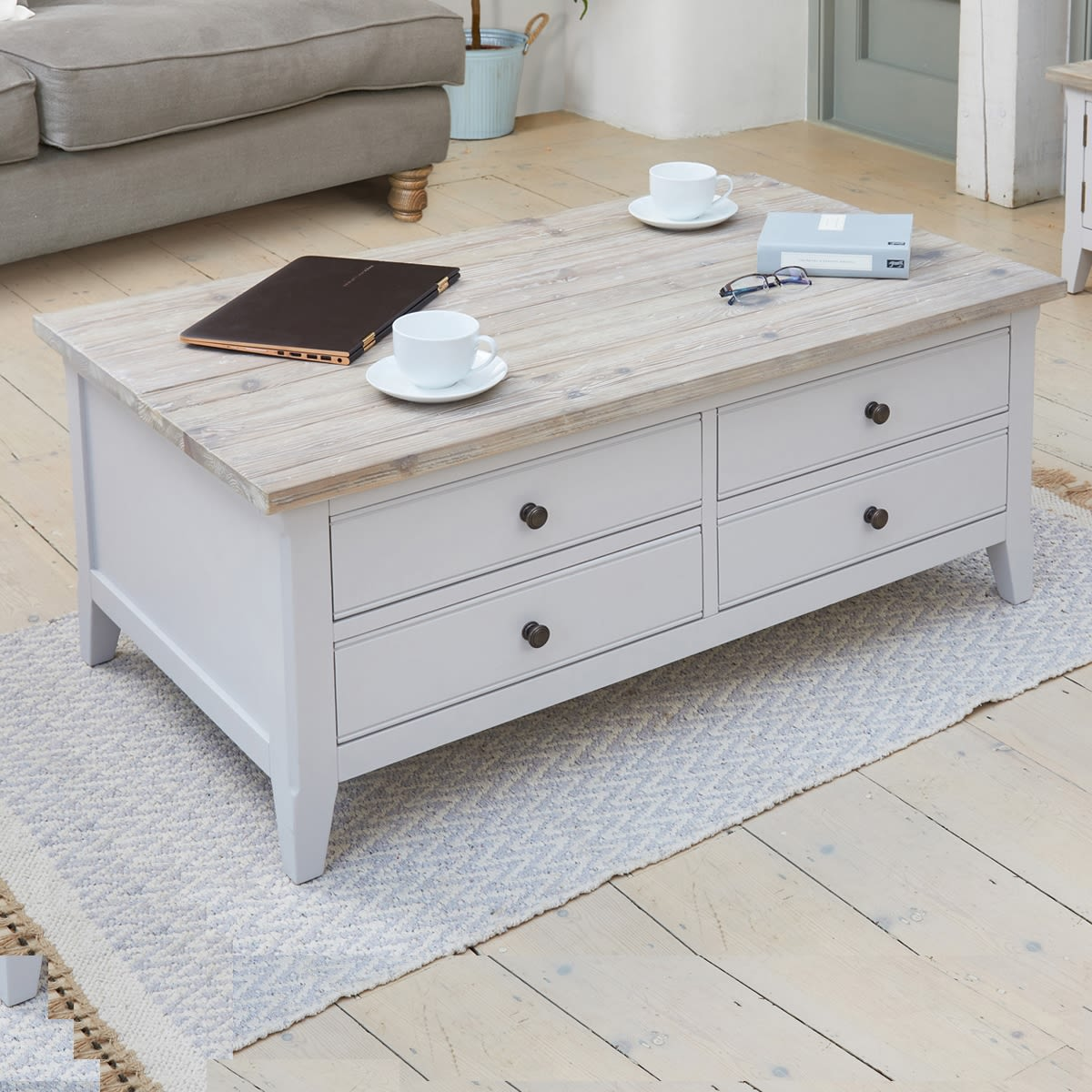Large Coffee Table Nottingham: Signature Grey Large Coffee Table Was £360.00 Now £329.00