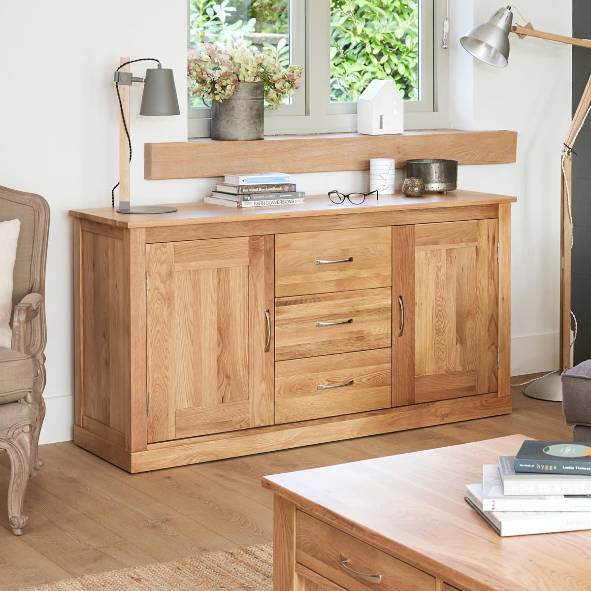 Mobel Oak Large Sideboard Wooden Furniture Store