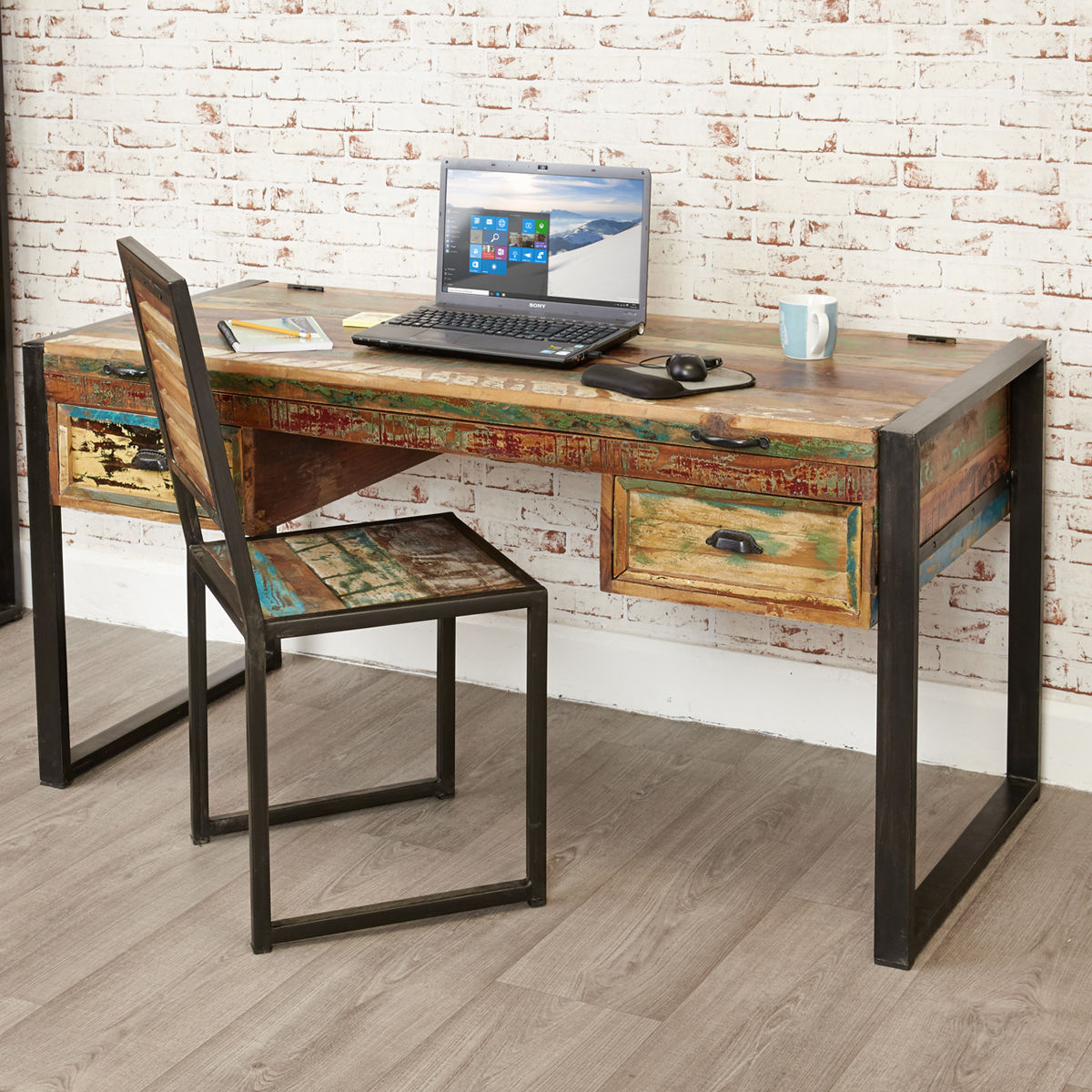 Home Office Furniture At Wooden Furniture Store: Urban Chic Laptop Desk / Dressing Table Was £480.00 Now £