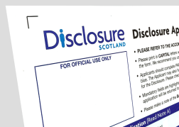 Form for Basic Disclosure Checks