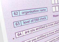 Enhanced DBS form with level options