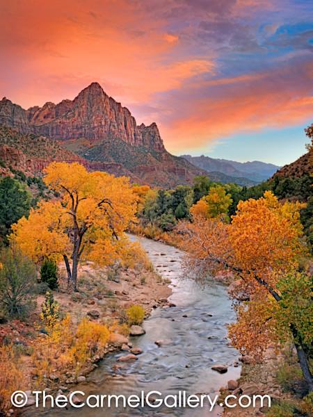 Autumn_sunset_zion_xgseek