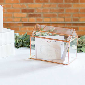 Glass Terrarium Reception Gift Card Holder