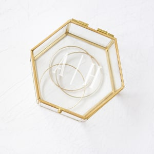 Personalized Gold Glass Keepsake Box