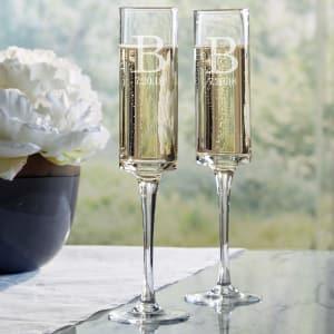 Modern Style Wedding Toasting Flutes