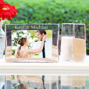 Personalized Sand Ceremony Unity Set with Photo Vase