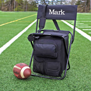 Personalized All-In-One Folding Tailgate Chair With Built-In Cooler
