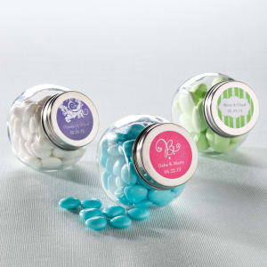 Candy Jar Favor with Personalized Label, set of 24