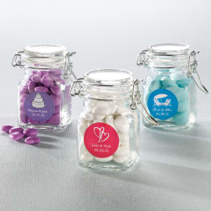 Apothecary Jar Favor with Personalized Label, set of 24