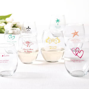 Personalized Wine Glass Favor- 15oz.