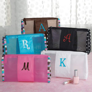 Personalized Mesh Cosmetics Pouch