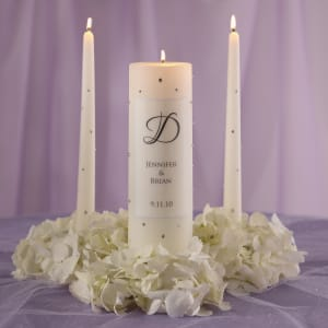 Crystal Wedding Unity Candle and Tapers