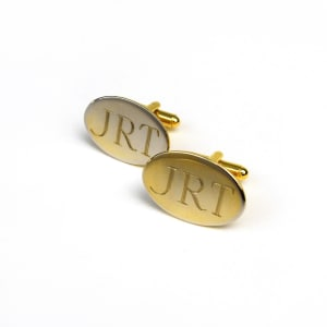 Gold-plated Oval Cufflinks