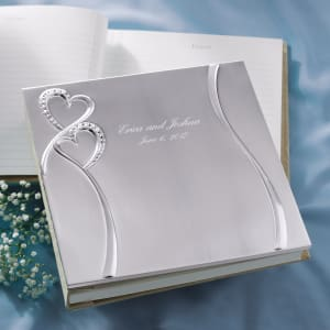 Twin Hearts Wedding Guest Book