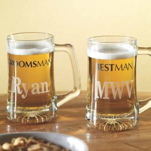 Best Man and Groomsmen Wedding Beer Mugs