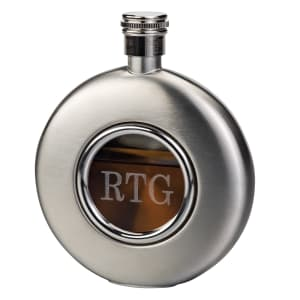 Round Flask With Glass Front