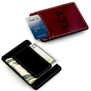 Leather Card Holder and Money Clip