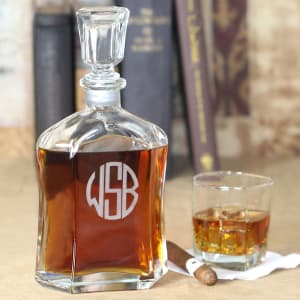 Personalized Glass Decanter for Whiskey