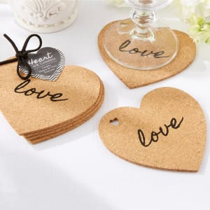 Cork Coaster Wedding Favor (set of 4)