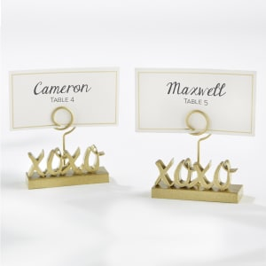 XOXO Gold Place Card Holder, Set of 6
