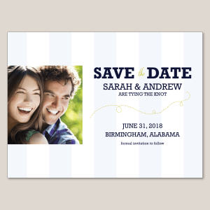 Contemporary Stripe Save the Date Magnet