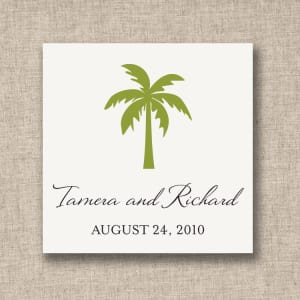 Palm Tree Favor Tags, sheets of 20