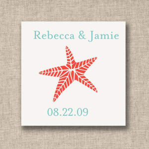 Starfish Favor Tags, sheets of 20