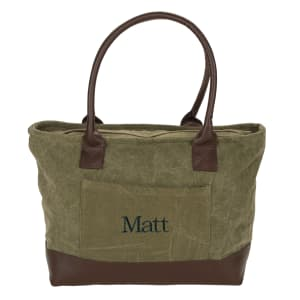 Chandler Tote in Stonewash Olive
