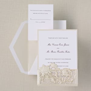 Lace Couture Wedding Invitation