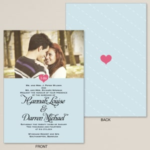 Cherished Romance Wedding Invitation