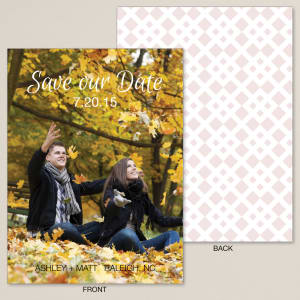 Diamond Bliss Save the Date Card