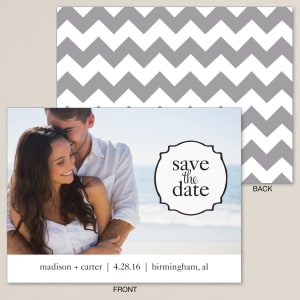 Stylish Chevron Save the Date Card