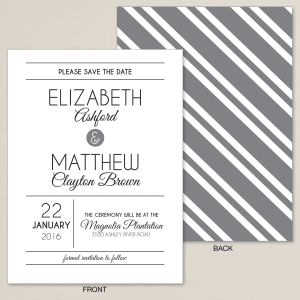 Contemporary Affair Save the Date Card