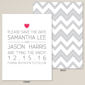 One Heart Save the Date Card