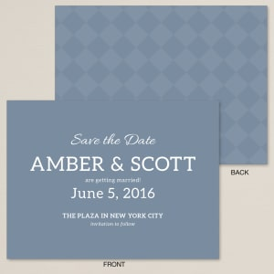 Bold Checker Save the Date Card