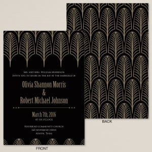 Deco Feathers Wedding Invitation