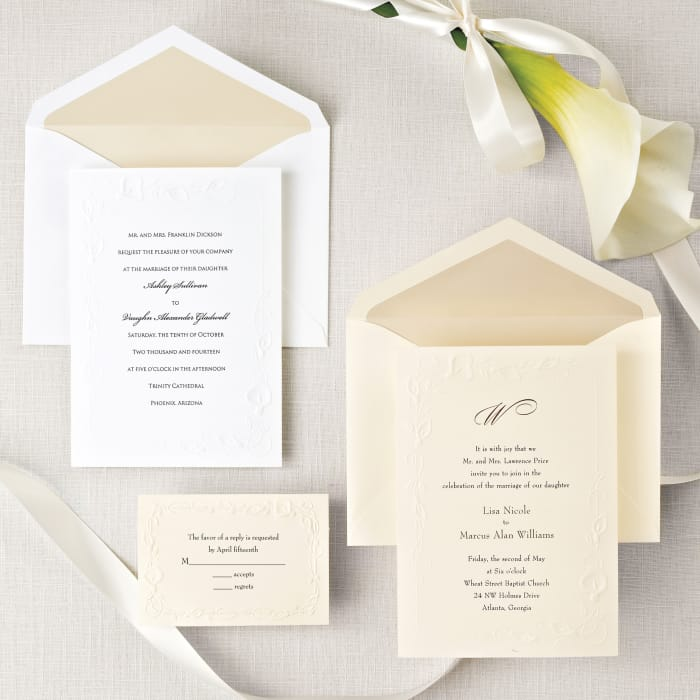 Calla Lily Beauty Wedding Invitation | Exclusively Weddings