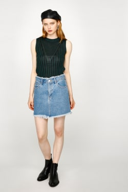 WAIST FRINGE skirt