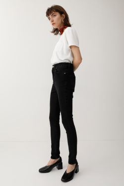 High Waisted Rebirth Light BLACK SKINNY