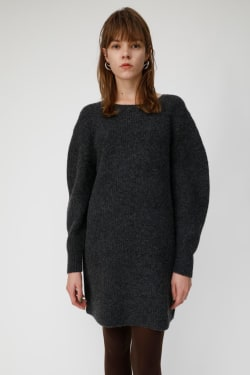 VOLUME SLEEVE KNIT MINI dress
