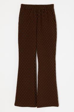 CHECK JAQGUARD FLARE pants