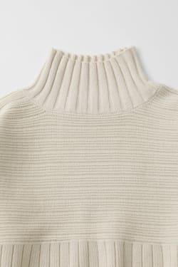 SWITCHING WIDE RIB sweater