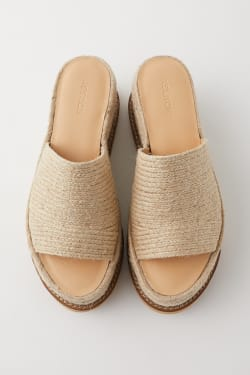 JUTE SOLE WEDGE MULES